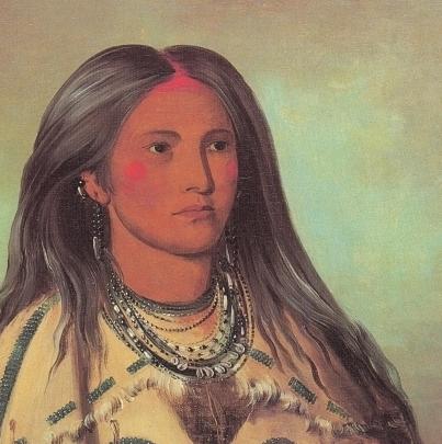 Sha-kó-ka (mint), a Mandan girl, 1832 - George Catlin