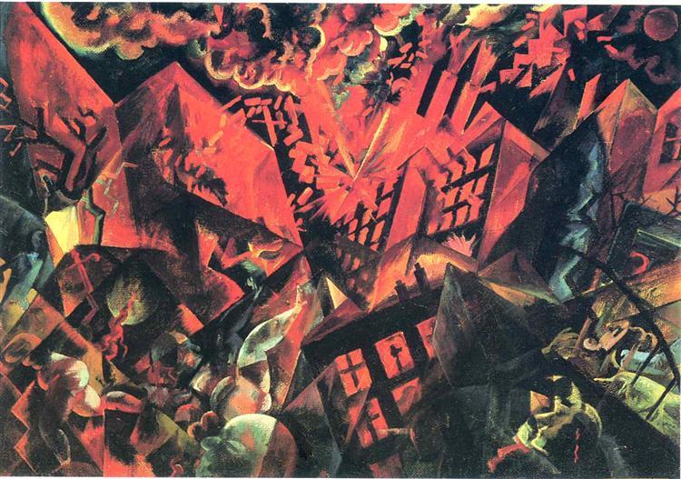 Explosion, 1917 - George Grosz
