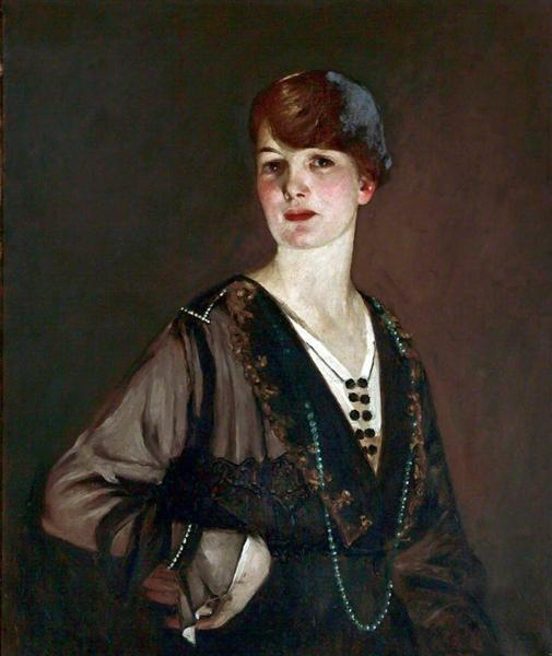 Portrait of a Lady in Black, 1919 - George Henry