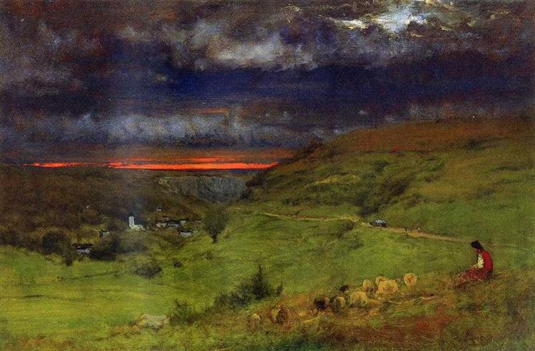 Sunset at Etretat - George Inness
