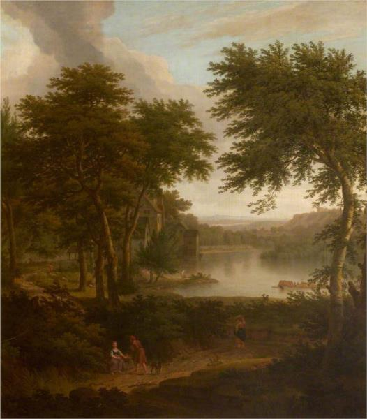 A River Landscape Flanked by Trees, 1748 - George Lambert