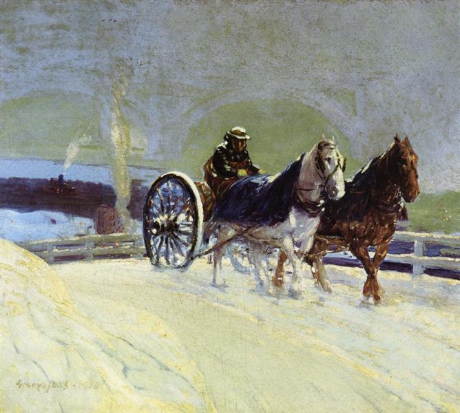 Hitch Team, 1916 - George Luks
