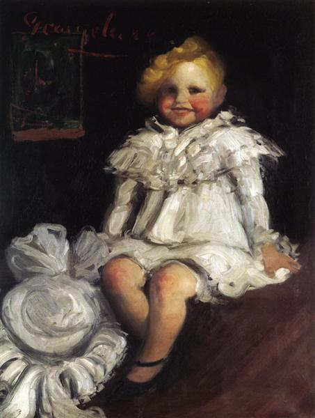 Little Lore with Her Hat, c.1904 - George Luks