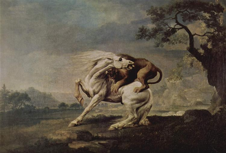 Lion Attacking a Horse, 1765 - George Stubbs