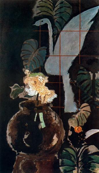 A landscape drawn into squares, c.1952 - Georges Braque