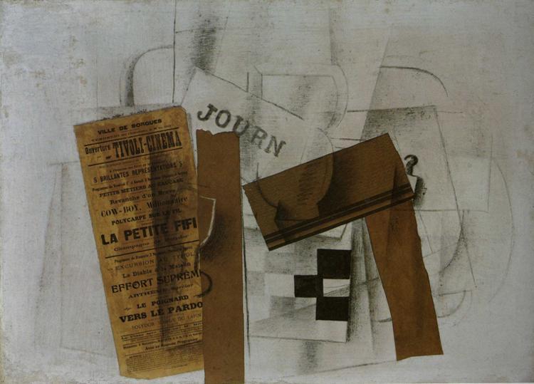 Assez Checkerboard Tivoli Cinema, 1913 - Georges Braque - WikiArt.org LC47