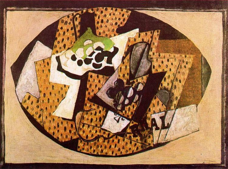 Still Life with Grapes (II), 1918 - Georges Braque