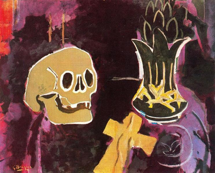 Still life with skull, c.1943 - Georges Braque
