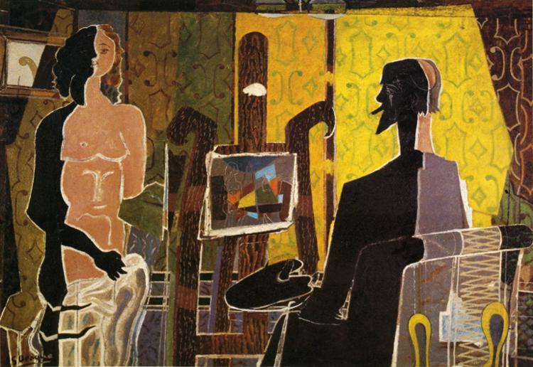 The Painter and His Model, 1939 - Georges Braque