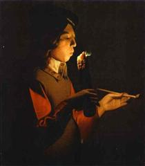 Blower with a Pipe - Georges de la Tour