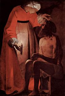 Job Mocked by His Wife - Georges de la Tour