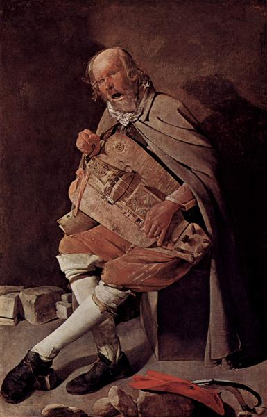 The Hurdy-Gurdy Player, also called Hurdy-Gurdy Player with Hat - Georges de la Tour