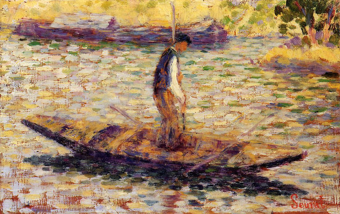 Riverman, 1883 - 1884 - Georges Seurat - WikiArt.org