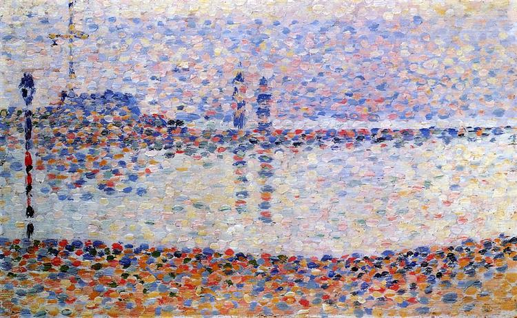 Study for 'The Channel at Gravelines, Evening', 1890 - Georges Seurat