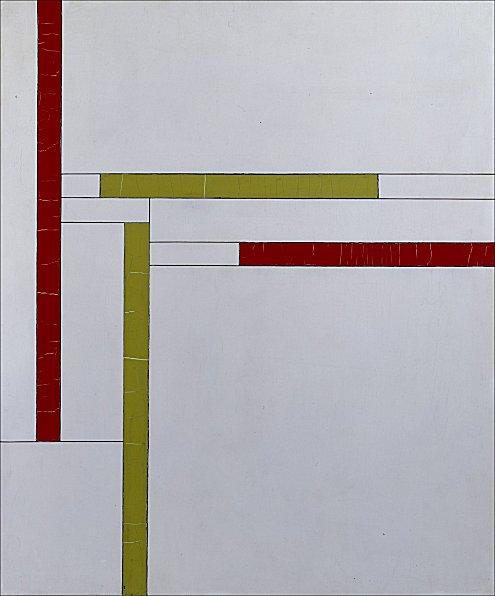 Fonction de lignes, rouge, vert, 1937 - Georges Vantongerloo