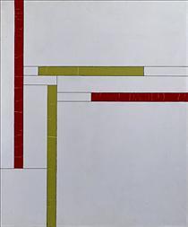 Fonction de lignes, rouge, vert - Georges Vantongerloo