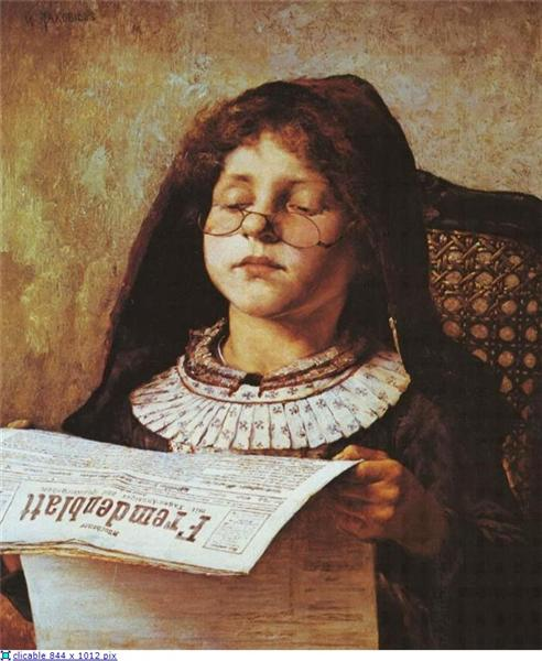 Girl Reading, 1882 - Georgios Jakobides
