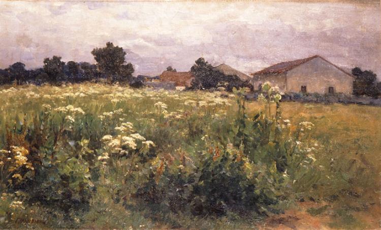 Grassy Field, c.1890 - Georgios Jakobides