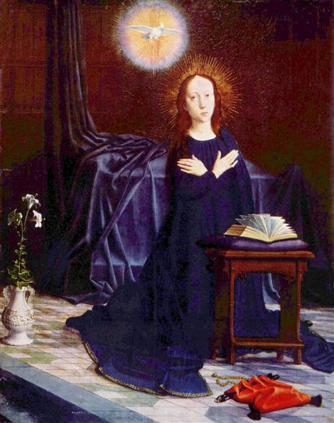 The Virgin of the Annunciation, c.1500 - c.1510 - Gerard David