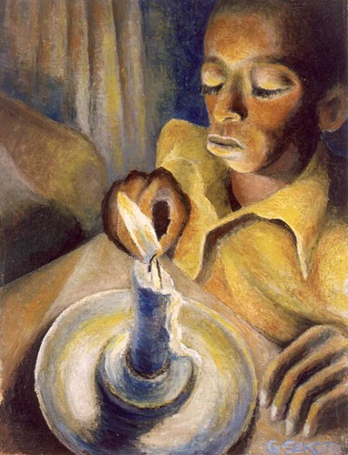 Boy and the Candle, 1943 - Gerard Sekoto