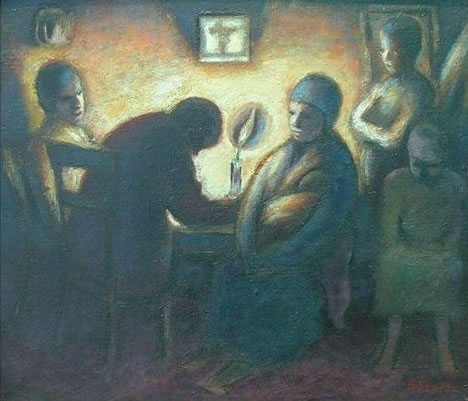 THE EVENING PRAYER, 1942 - Gerard Sekoto