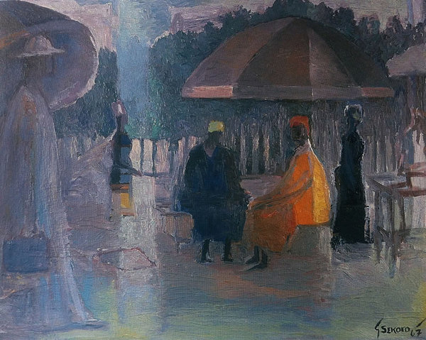 UNDER THE UMBRELLA, 1967 - Gerard Sekoto