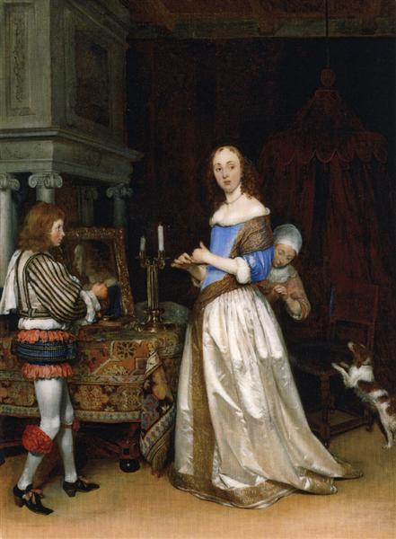 Lady at her Toilette, c.1660 - Gerard Terborch