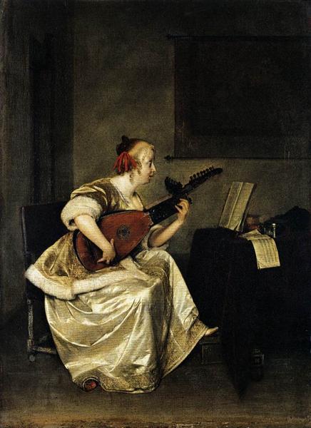 The Lute Player, 1668 - Герард Терборх