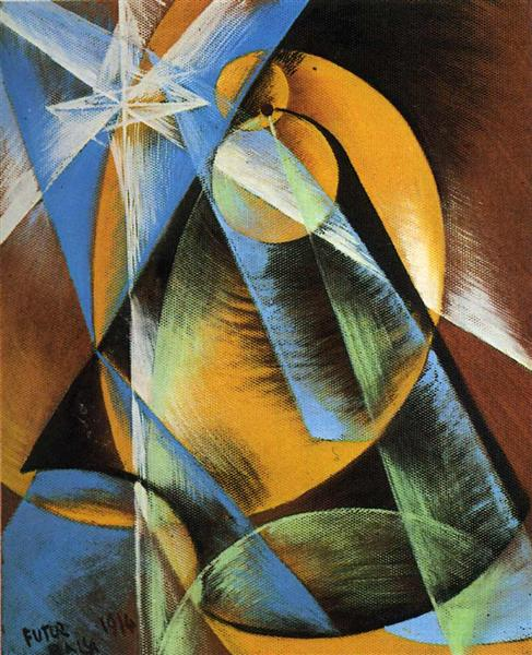 Planet Mercury passing in front of the Sun, 1914 - Giacomo Balla
