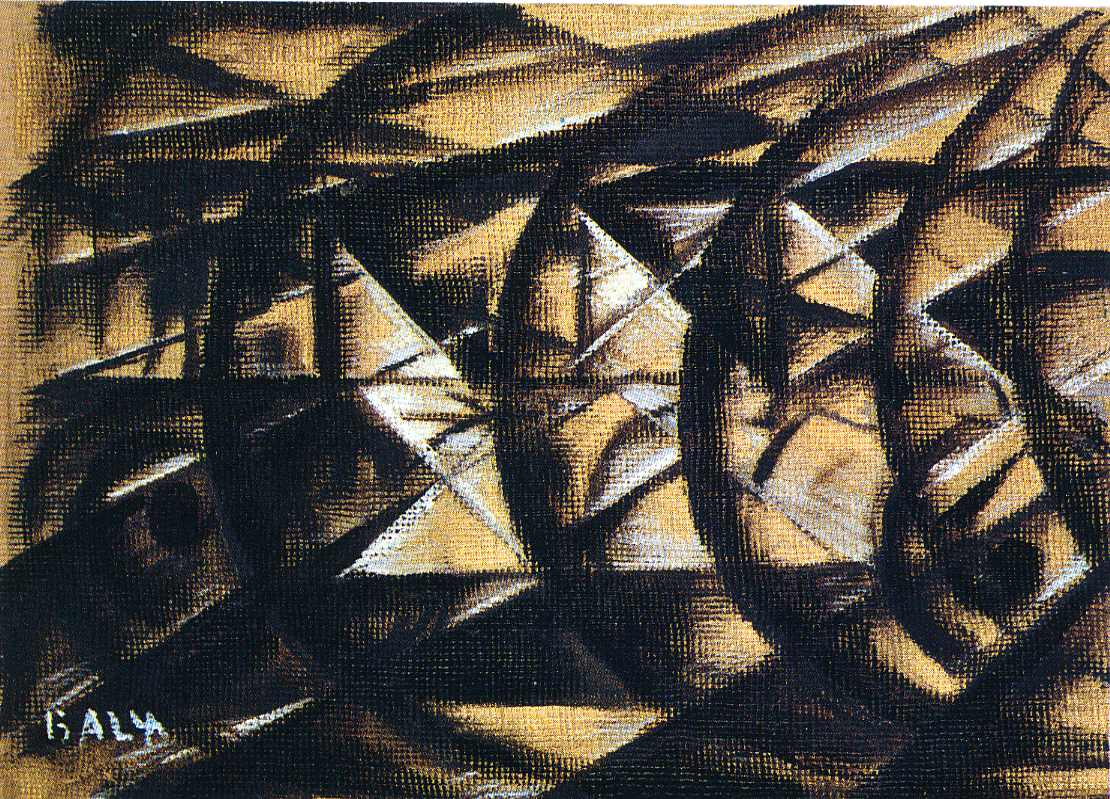 Speed of a Motorcycle (study), 1913 - Giacomo Balla ...