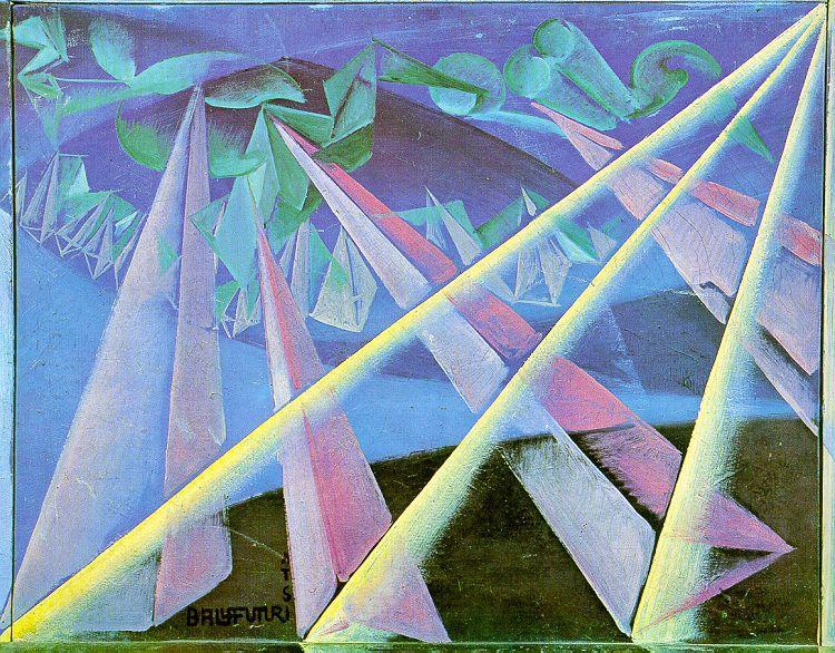 Spirit-form transformation, 1918 - Giacomo Balla