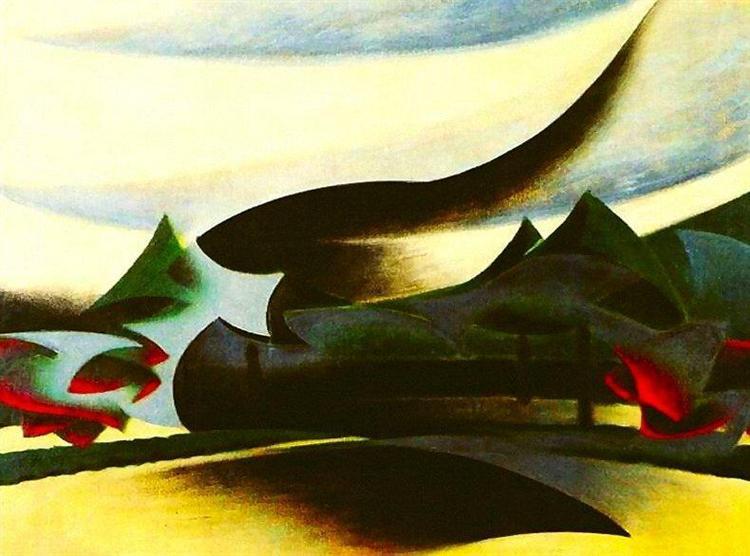 Warship, widow and wind, 1916 - Giacomo Balla
