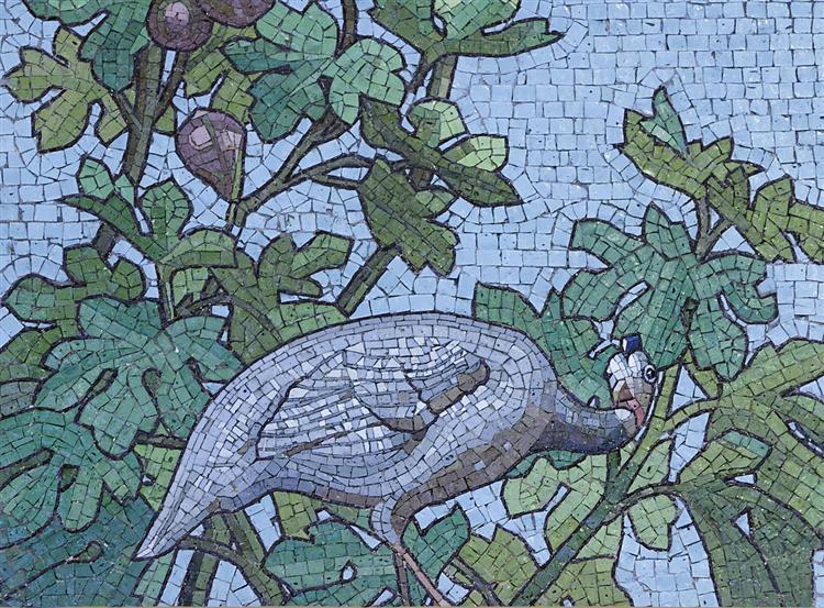 Mosaic - Dining hall room of the Sainte-Barbe library, Paris - Giandomenico Facchina