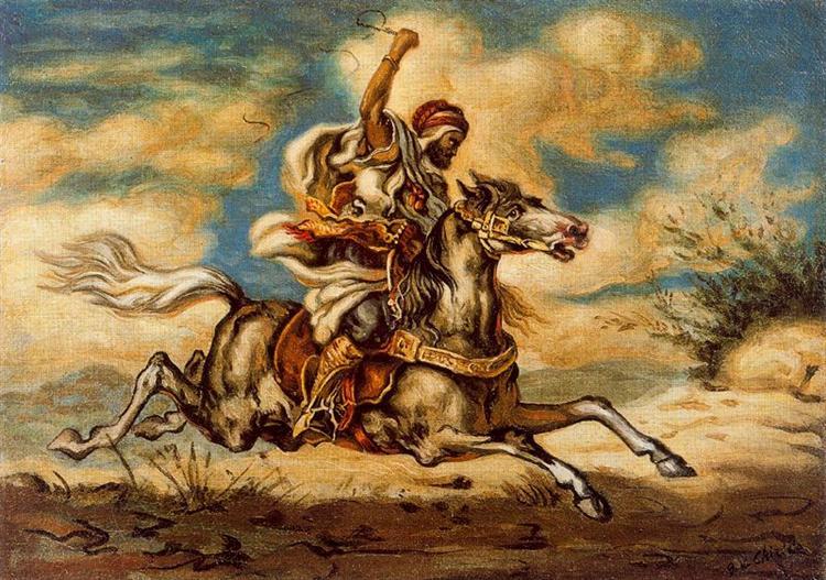 Arab on horseback, 1935 - Giorgio de Chirico