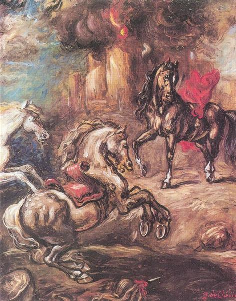 Horses on the run - Giorgio de Chirico
