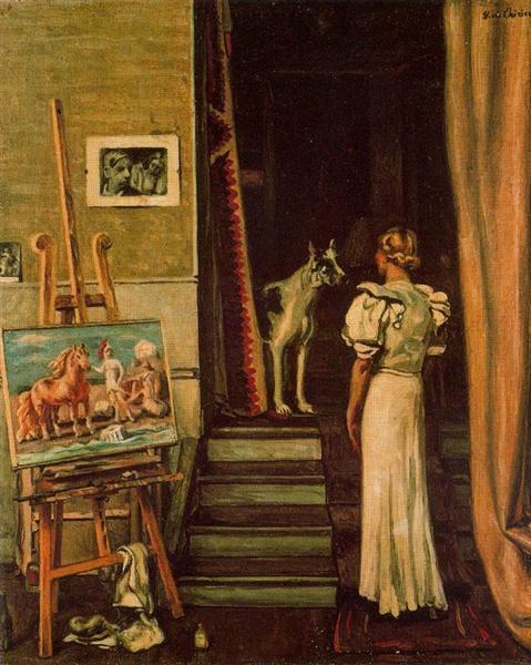 Paris studio of the artist, 1933 - 1934 - Giorgio de Chirico