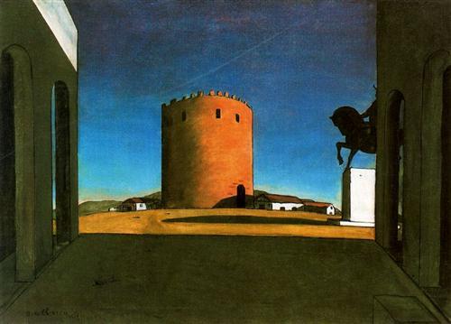 The Red Tower - Giorgio de Chirico