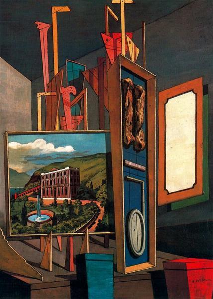 Vast metaphysical interior, 1917 - Giorgio de Chirico