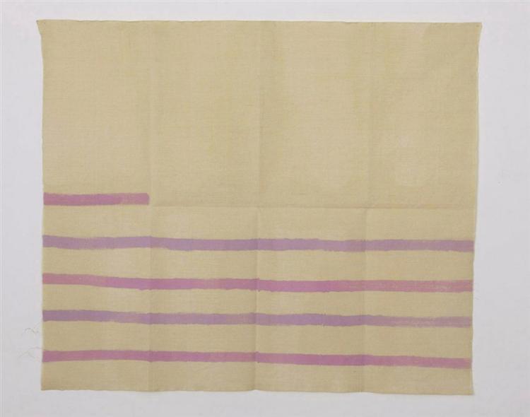 Orizzontale viola e lilla - Giorgio Griffa