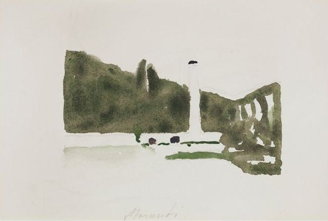 Landscape Levico, 1957 - Джорджо Моранди