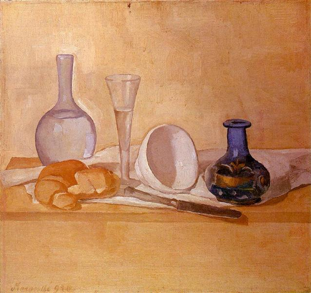 Still Life The Blue Vase 1920 Giorgio Morandi Wikiart