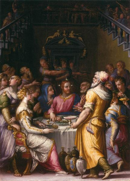 Marriage at Cana, 1566 - Giorgio Vasari
