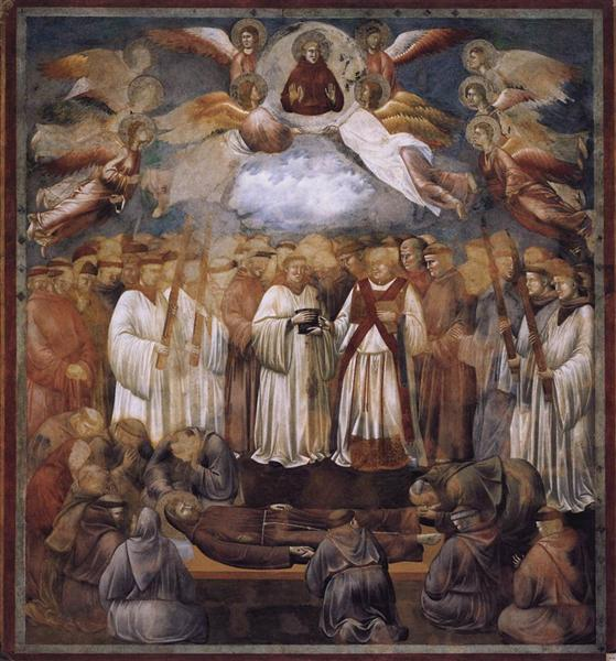 Death and Ascension of St. Francis, 1300 - Giotto