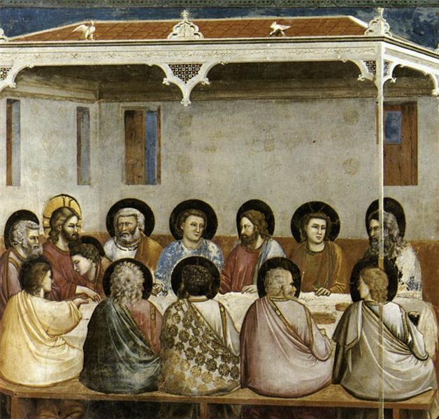 Last Supper, c.1304 - c.1306 - Giotto