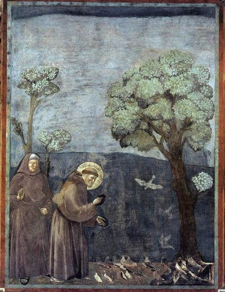 St. Francis Preaching to the Birds, 1297 - 1299 - Giotto
