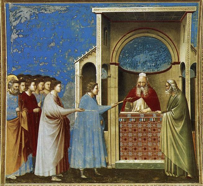 The Bringing of the Rods to the Temple, c.1304 - c.1306 - Giotto