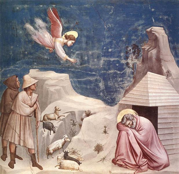 The Dream of Joachim, c.1305 - Giotto