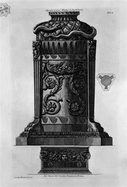 A tripod stand and a former, c.1770 - Giovanni Battista Piranesi