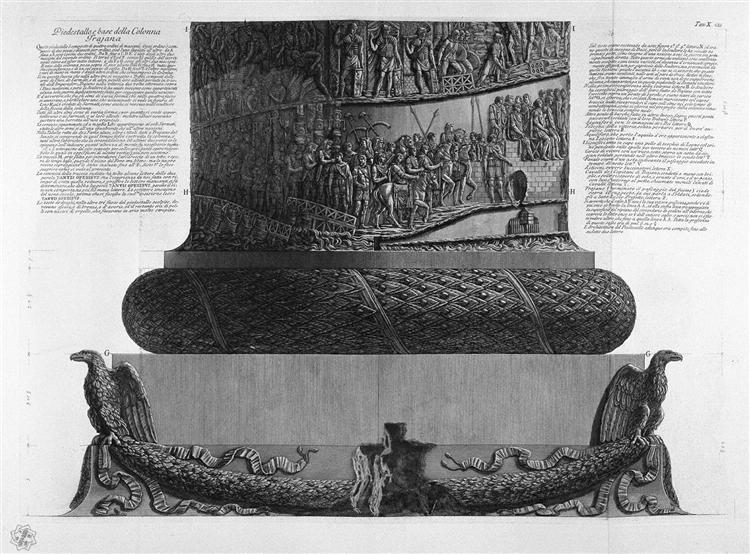 Pedestal and base of Trajan`s Column - Giovanni Battista Piranesi