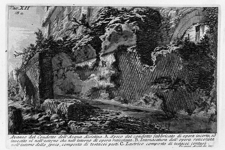 The Roman antiquities, t. 1, Plate XII. Aqua Alsietina., 1756